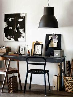 Dark furniture workspace