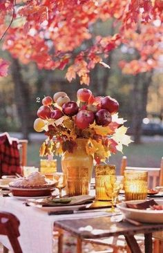 Lovely fall luncheon in the garden.