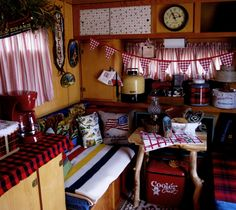 Ranch Farmgirl >> Glamping WITH MaryJane. The inside of Shery Jespersen's 1958 Leino.