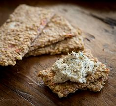 Raw Bruschetta Crackers & Basil-Garlic Cashew Spread (with balsamic vinegar)