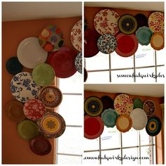 Window valance made with plates~~~blogger gives no tutorial.  But this is awesome!!!!