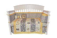 Amazon.com: 10PC OWL Gender Neutral Crib Bedding Set Grey & Yellow: Baby $100