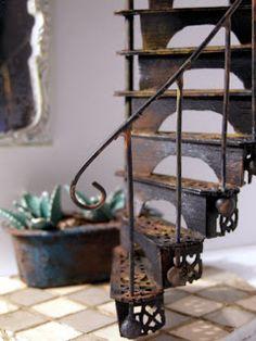 DIY Victorian spiral staircase