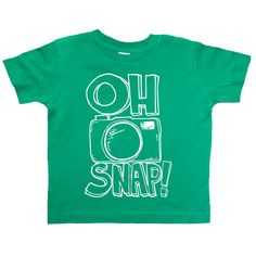 Oh Snap! - Camera Shirt - Funny Kids T Shirt - Funny Saying - Baby and Toddler - Boys Clothing - Cool Kids Clothes - Hipster Kids Clothes on Etsy, $16.00