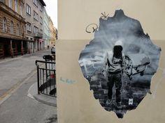 Street art works from Slovakia by Michal Mráz.