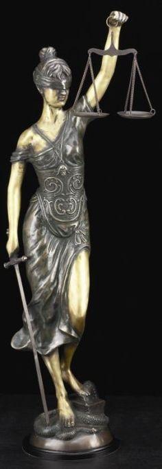 Lady Justice Bronze Sculpture T.P.