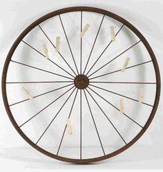 wheels, rustic wheel, decor accessori, card holders, wheel card, cards, clothespins, clothespin set