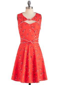 Good Ol' Daisy Dress in Strawberry, #ModCloth