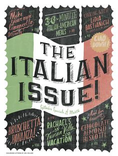 September 2012: The Italian Issue features
