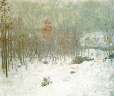 """Woods in Snow"" by Julian Alden Weir, ca. 1895"