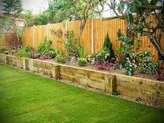 raised garden beds against a fence images - Google Search veggie gardens, raised gardens, retaining walls, privacy fences, rais bed, hous, backyard gardens, raised garden beds, raised flower beds