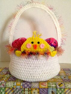 Peek A Boo Chick Easter Basket
