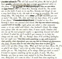 Lady Bird Johnson's dictated diary and notes about her talk with Jackie Kennedy aboard Air Force One flying back from Dallas after Pres. John F. Kennedy's November 22, 1963 assassination. #JFK50