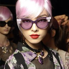 Fashion   Tumblr  Cool beauty look at Anna Sui's Spring 2013 show. LOVE!