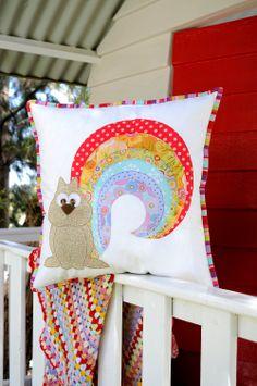 Rainbow Squirrel Applique Pattern