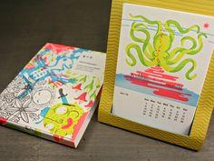 Letterpress calendar for sale