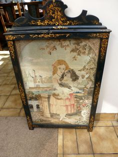 antique Victorian needlepoint