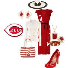 Cincinnati Reds, created by lateefah-yallknowme-brown on Polyvore
