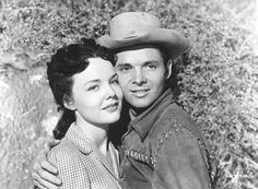Audie Murphy and his first wife Wanda Hendrix