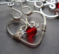 How to Make Bead and Wire Hearts for Jewelry