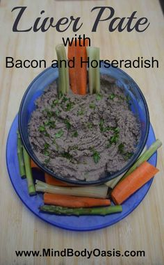 Chicken Liver Pate with Bacon and Horseradish #paleo  #liver  #glutenfree