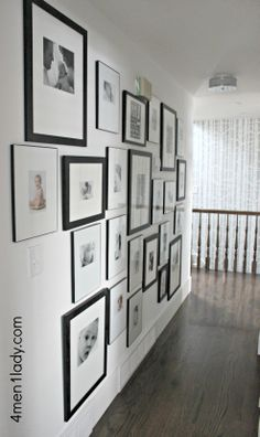 A gallery wall is a great addition to a living room space and gives you an opportunity to showcase some of your most special memories! Get tips on how to make your own gallery wall from 4 Men 1 Lady. || @Michelle (4 Men 1 Lady) (www.4men1Lady.com)
