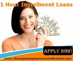 1 Hour Installment Loans are the place where you can get cash in a few hours of applying.  www.1hourpaydayloansnocreditcheck.com/1-hour-installment-loans.html place