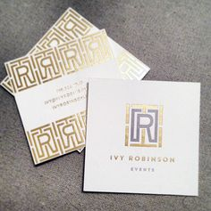 Ivy Robinson Business Card Design by Emily McCarthy