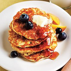 Oatmeal Pancakes < Healthy Breakfast Recipes - Cooking Light