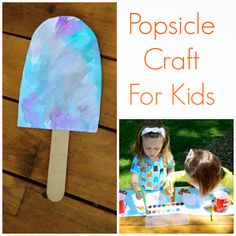 Easy Watercolor Popsicle Craft For Kids