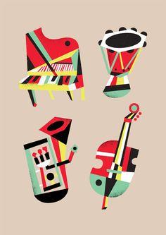 Picasso's Lost Instruments - bradwoodarddesign