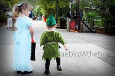 Peter Pan and Wendy Darling DIY costumes.  @Amanda Snelson Snelson Jones