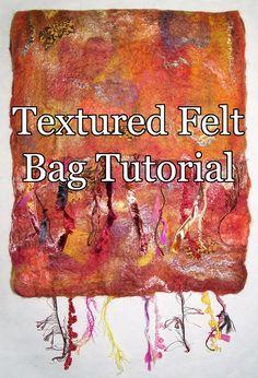 Wet felted bag tutorial