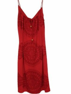 Juicy Couture Hope Print Twist Strappy Womens Dress Size S - Silk Red --- http://www.pinterest.com.welik.es/2lv