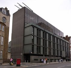 The Danish Embassy to the United Kingdom in the Knightsbridge area of London was designed by Arne Jacobsen and completed in 1977.