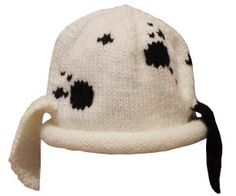 Spotted Puppy  Hat {free pattern}.  Can be knit on two needles.