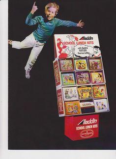 Aladdin School lunch kits ad lunch box by Mr. Flintstone, via Flickr