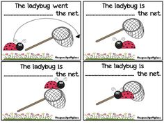 A cute ladybug activity to target prepositions.
