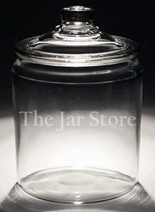 Inexpensive jars of all kinds ... perfect to make the pantry, baths and laundry room pretty!