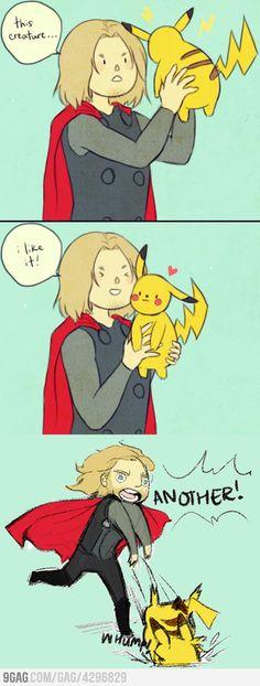 Thor meets Pikachu