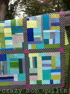Love this modern quilt - crazy mom quilts