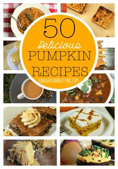 Get PUMPED and READY for Fall with these 50 Pumpkin Recipes!! #pumpkin #recipe