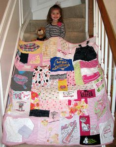 using baby clothes to make a quilt
