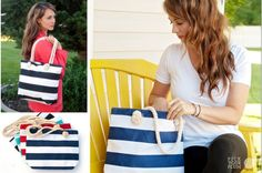 For the Bag That Runneth Over - Canvas Bag with Rope Handle #tote #canvasbag pickyourplum.com