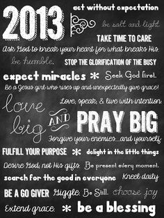 Sweet Blessings: 2013- Love Big & Pray Big