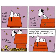 Thursday with Snoopy and Woodstock.