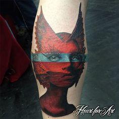 Colour tattoos on pinterest wildlife tattoo breaking for Avant garde tattoo