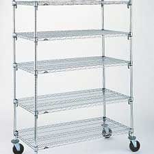 I Need The Best Racks and Shelving Option: We're looking to invest in some Metro shelving (that commercial-looking metal shelving) for our utility room. We'd like something strong and sturdy in a chrome finish, and under $300 for a basic set of shelving. Casters would be a bonus.