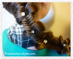 #Fishtail bow tie braid hairstyle tutorial.  This braid is surprisingly easy!