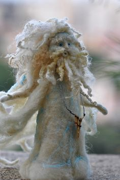 Needle felted Waldorf. The King of Winds.Standing doll. Soft sculpture. by daria.lvovsky, via Flickr